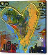 13 Of Hearts Stop Sign, Heartache Series. Acrylic Print