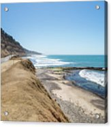 Pacific Ocean Big Sur Coatal Beaches And Landscapes Acrylic Print