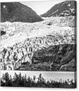 Panoramic View Of Mendenhall Glacier Juneau Alaska Acrylic Print