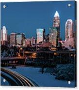 Rare Winter Scenery Around Charlotte North Carolina Acrylic Print