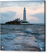 Saint Mary's Lighthouse At Whitley Bay Acrylic Print