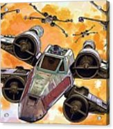 Trilogy Star Wars Poster Acrylic Print