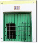 Wooden Door In Old San Juan, Puerto Rico Acrylic Print