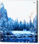 Landscape On Nature Acrylic Print