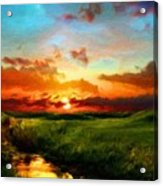 Nature Oil Canvas Landscape Acrylic Print