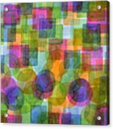 Befriended Squares And Bubbles Acrylic Print