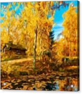 Oil Painting Landscape Pictures Nature Acrylic Print