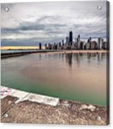 1323 A View From The Breakwall Acrylic Print
