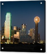 14-0905-141 Dallas Tx Skyline Acrylic Print