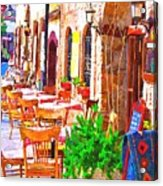 A Digitally Constructed Painting Of Cobbled Back Streets Of Kaleici In Antalya Turkey Acrylic Print