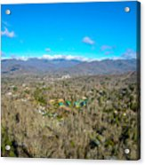 Aerial View On Mountains And Landscape Covered In Snow Acrylic Print