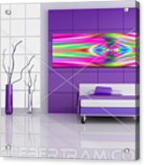 An Example Of Modern Art By Rolf Bertram In An Interior Design Setting Acrylic Print