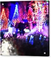 Christmas Light Bokeh At Daniel Stowe Gardens Belmont North Caro Acrylic Print