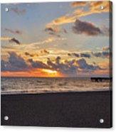 14- Juno Beach Pier Acrylic Print