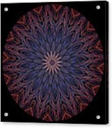 Kaleidoscope Image Created From Light Trails Acrylic Print