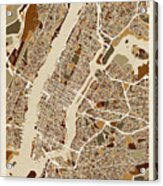 New York City Street Map Acrylic Print