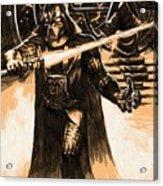 Star Wars Characters Poster Acrylic Print