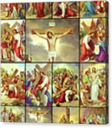 14 Stations Of The Cross Acrylic Print