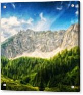 Nature Oil Painting Landscape Images Acrylic Print