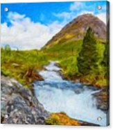 Nature Painted Landscape Acrylic Print
