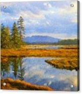 Nature Art Original Landscape Paintings Acrylic Print