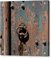 14th Century Door In France Acrylic Print