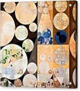 Abstract Painting - Seal Brown Acrylic Print