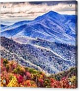 Autumn Season On Blue Ridge Parkway Acrylic Print