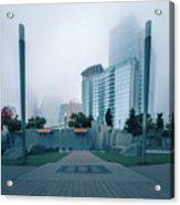Charlotte North Carolina City Skyline And Downtown Acrylic Print