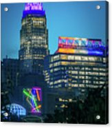 Charlotte North Carolina Cityscape During Autumn Season Acrylic Print