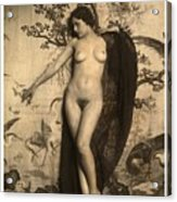 Digital Ode To Vintage Nude By Mb Acrylic Print