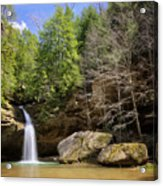 Hocking Hills Waterfall Acrylic Print