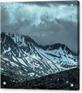 Rocky Mountains Nature Scenes On Alaska British Columbia Border Acrylic Print