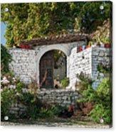 Street In Berat Old Town In Albania Acrylic Print