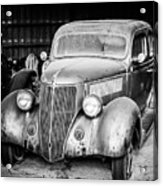 Vintage Autos In Black And White Acrylic Print