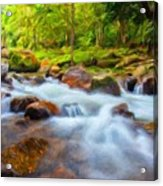 Nature Painted Landscape Acrylic Print