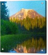 Nature Landscape Paintings Acrylic Print