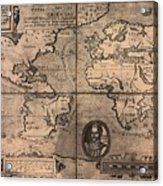 1581 Map By Nicola Van Sype, Showing Acrylic Print by Everett