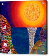 16-7 Village Sun Acrylic Print