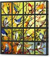 16 Birds Acrylic Print by Jennifer Lommers
