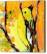 16 Birds No 1 Acrylic Print by Jennifer Lommers