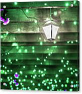 Christmas Light Bokeh At Daniel Stowe Gardens Belmont North Caro Acrylic Print