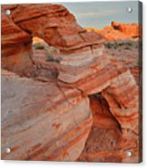 First Light On Valley Of Fire Acrylic Print