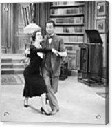 Silent Film Still: Dancing Acrylic Print by Granger
