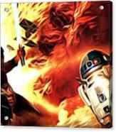 Star Wars Heroes Poster Acrylic Print