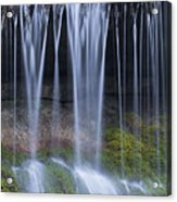 Water Flowing Over Rocks Acrylic Print