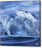 Ice On Beach Acrylic Print
