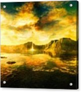 Nature Oil Painting Landscape Acrylic Print