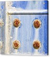 Blue Metal Acrylic Print