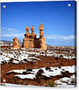 Goblin Valley Acrylic Print by Mark Smith